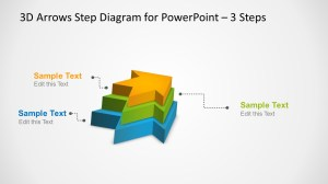 3D Arrows Step Diagram Template for PowerPoint  SlideModel