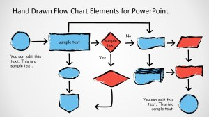 Hand Drawn Flow Chart Template for PowerPoint  SlideModel