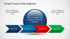 Simple Chevron Process Flow Diagram for PowerPoint