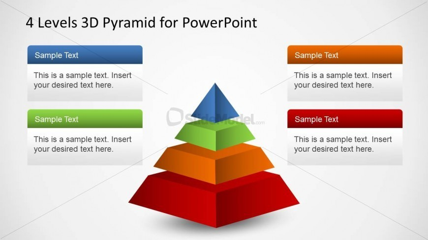 3d Layered Pyramid Powerpoint Diagram Slidemodel
