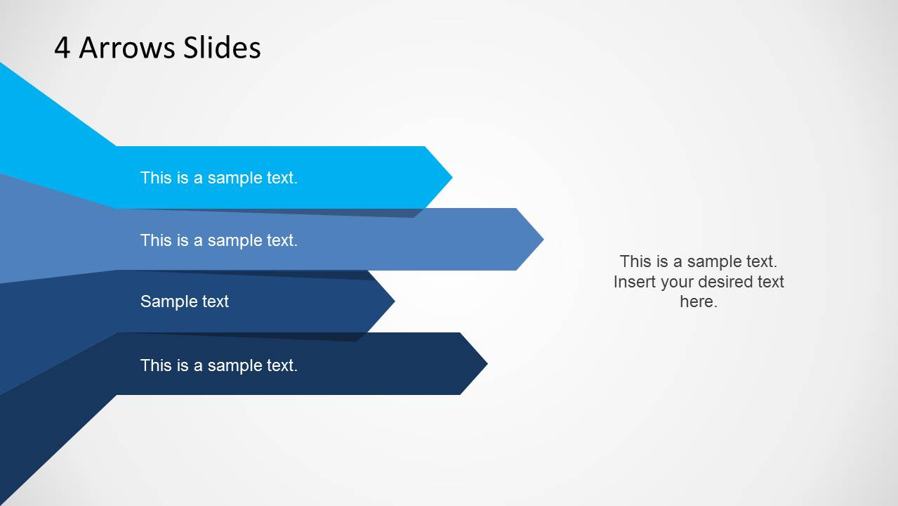4 Arrows Template For Powerpoint Slidemodel