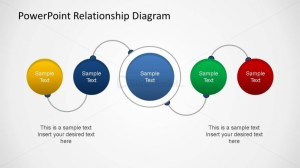 PowerPoint Relationship Diagram Linear Connection  SlideModel