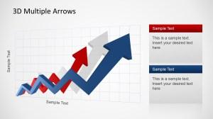 3D Multiple Arrows Upswing Trend for PowerPoint  SlideModel