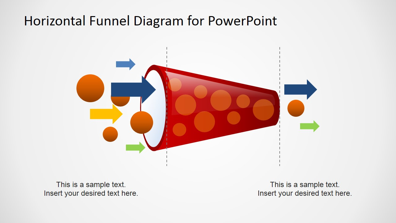 Horizontal Funnel Diagram For Powerpoint