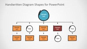 Flat Bold Handwritten PowerPoint Tree Diagram Shapes
