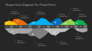Dark Infographics Area Chart Template for PowerPoint  SlideModel