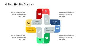 4 Step Cross Healthcare Diagram for PowerPoint  SlideModel