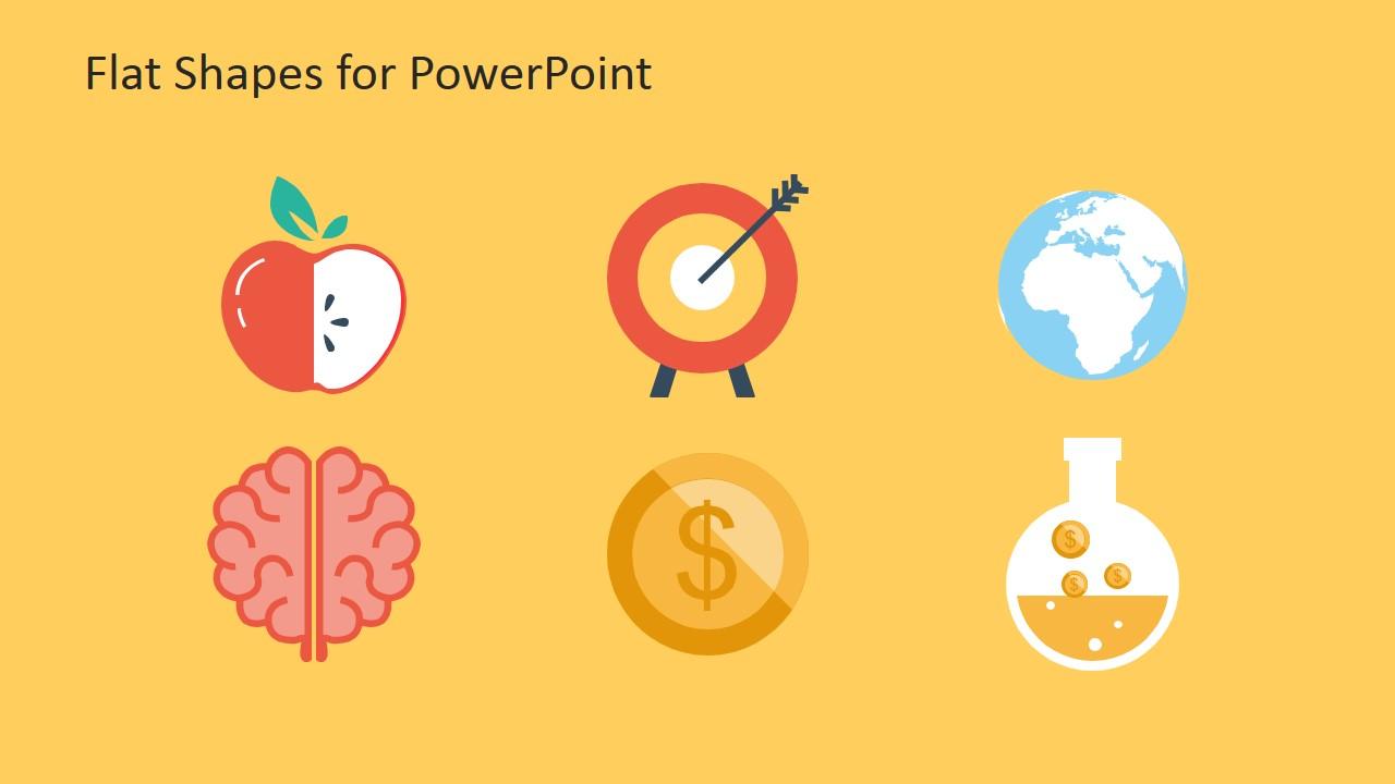 Creative Flat Shapes For PowerPoint SlideModel
