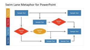 Swim Lane Work Process Flow Chart for PowerPoint  SlideModel