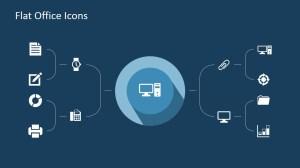 Flat Office PowerPoint Icons  SlideModel