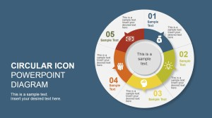 5 Step Creative Circular Diagram Design for PowerPoint