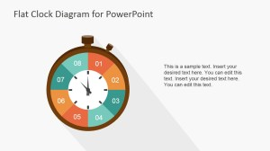 Flat Analog Clock Diagram PowerPoint Template  SlideModel