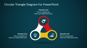 Circular Nodes Triangle Diagram for PowerPoint  SlideModel