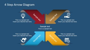 4 Step Arrows Diagram for PowerPoint  SlideModel