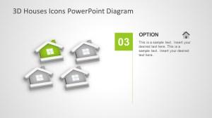3D Houses Icons PowerPoint Diagram  SlideModel