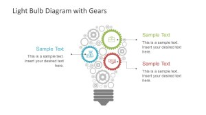 Light Bulb Diagram Gears PowerPoint Shapes  SlideModel