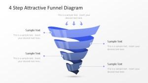 4 Step Attractive Funnel Diagram  SlideModel