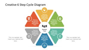 Creative 6 Step Cycle Diagram  SlideModel