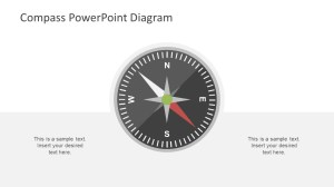 Compass PowerPoint Direction Concept  SlideModel