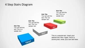 4 Step Stairs Diagram Template for PowerPoint  SlideModel