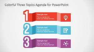 Free Colorful Three Topics Agenda for PowerPoint  SlideModel