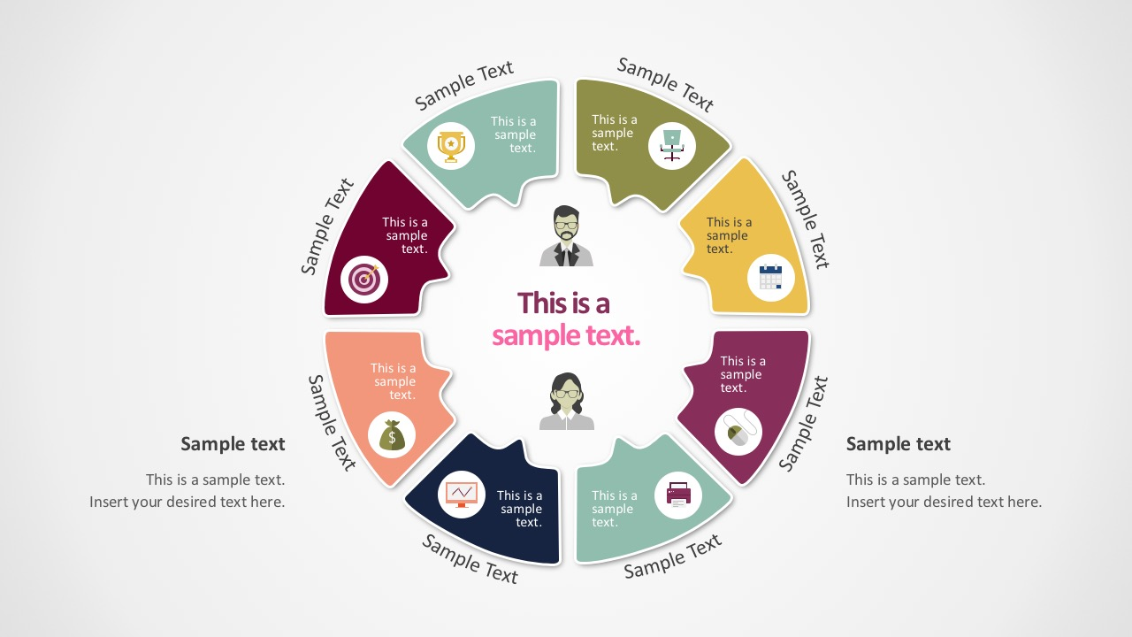 It is a graphical illustration of sequence of steps which makes comprehending. Flat 8 Step Circular Diagram Template Slidemodel