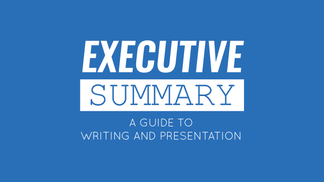 Executive Summary: A Guide to Writing and Presentation - SlideModel