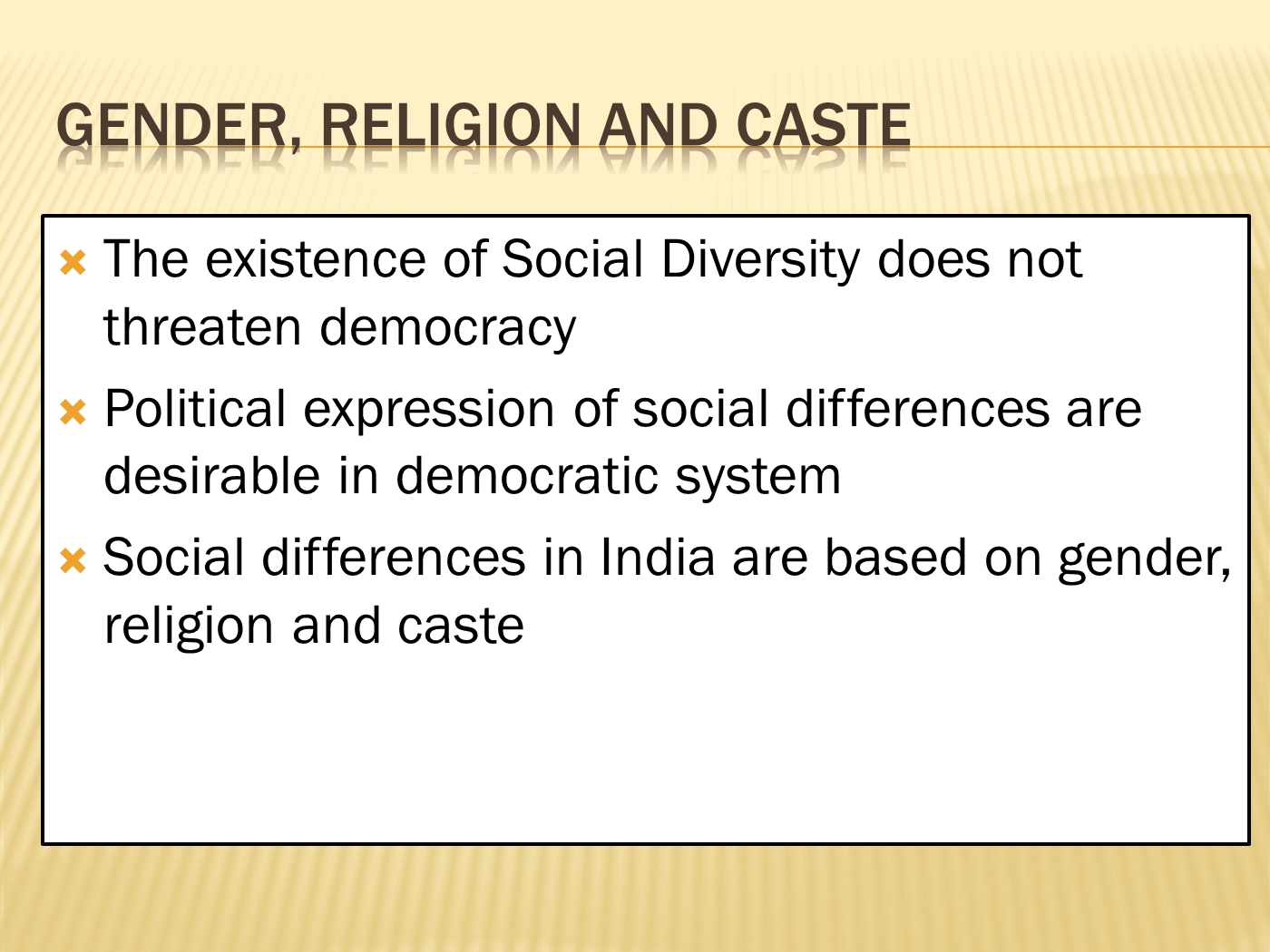 Classnotes Class 10 Notes Of Gender Religion And Caste