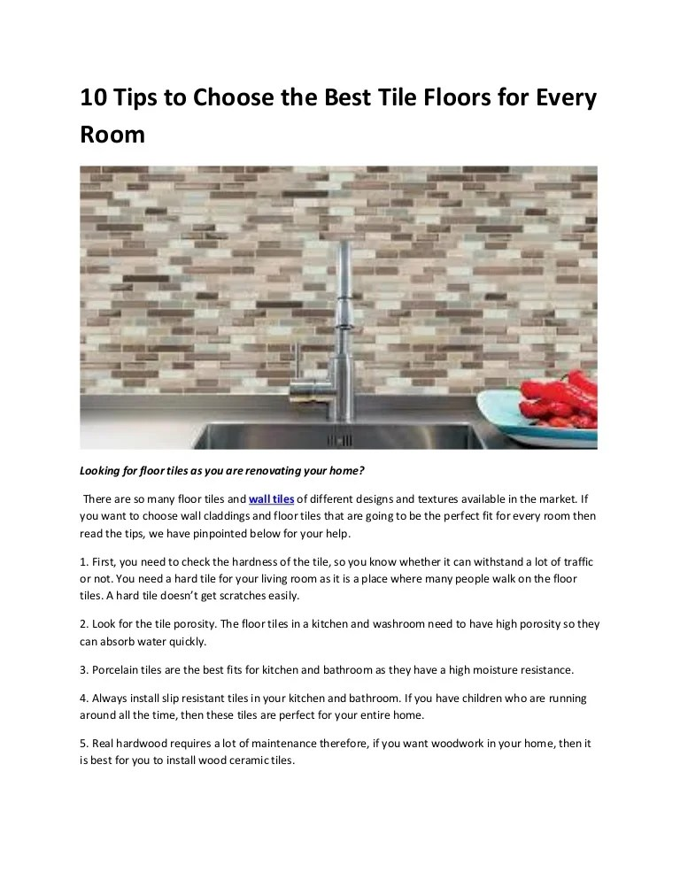 10 tips to choose the best tile floors