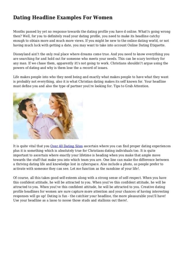 Good Online Dating Profile Taglines – Best Online Dating Website