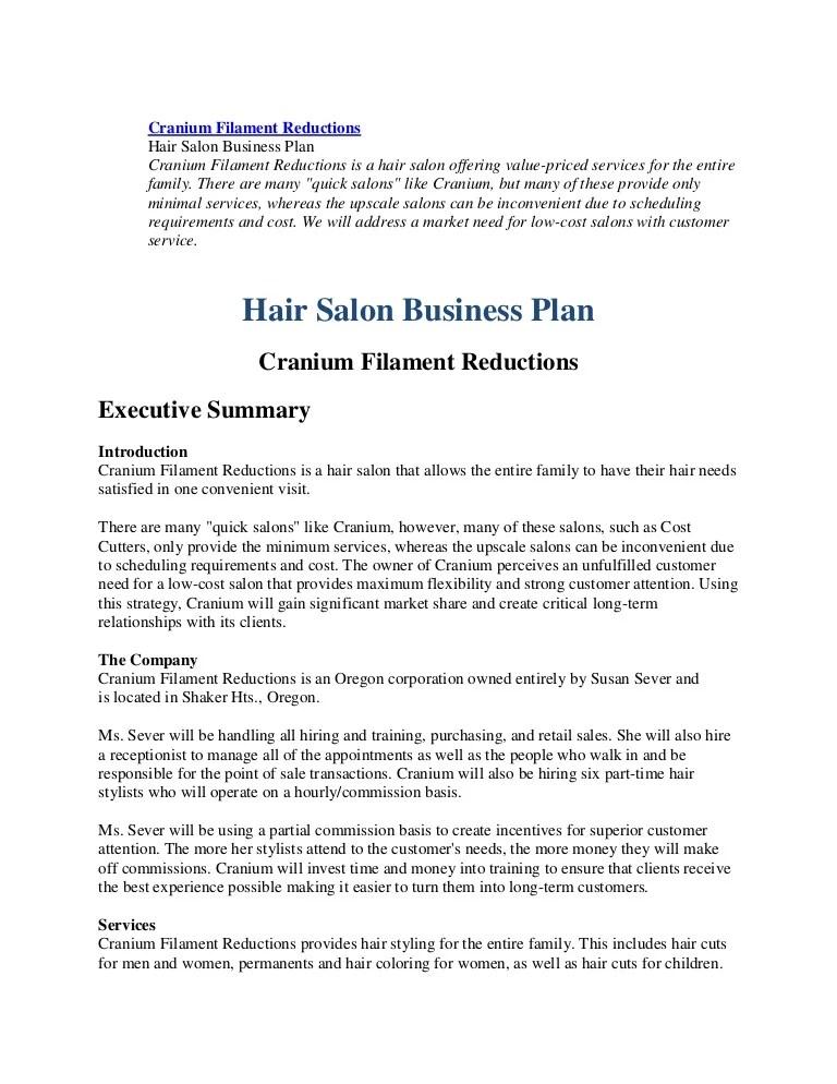 79742553 Business Plan Hairl Salon