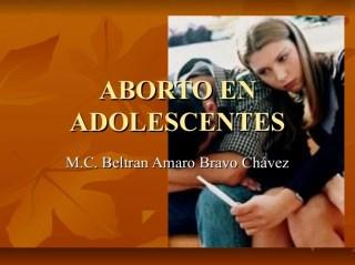 Resultado de imagen para aborto en adolescentes