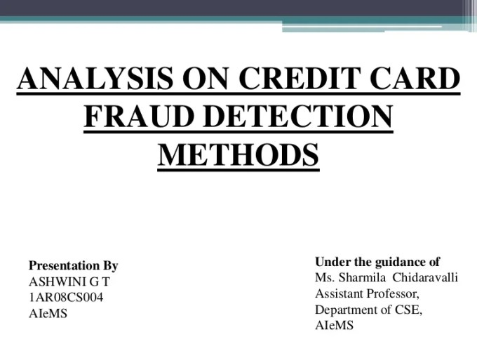 Credit Card Fraud Detection Using Genetic Algorithm Ppt ...