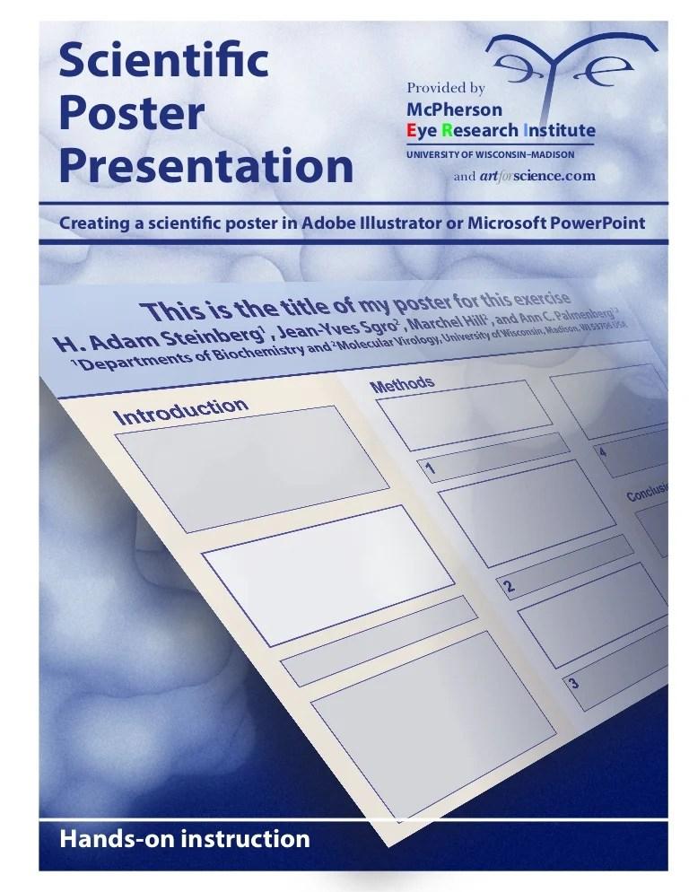scientific poster making using adobe