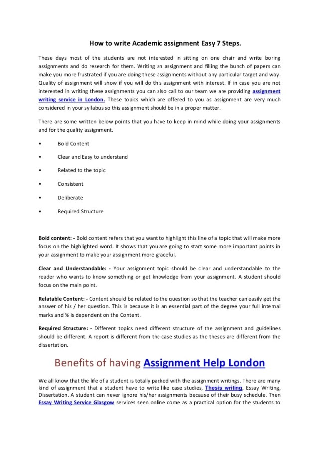 How to write Academic assignment Easy 25 Steps.