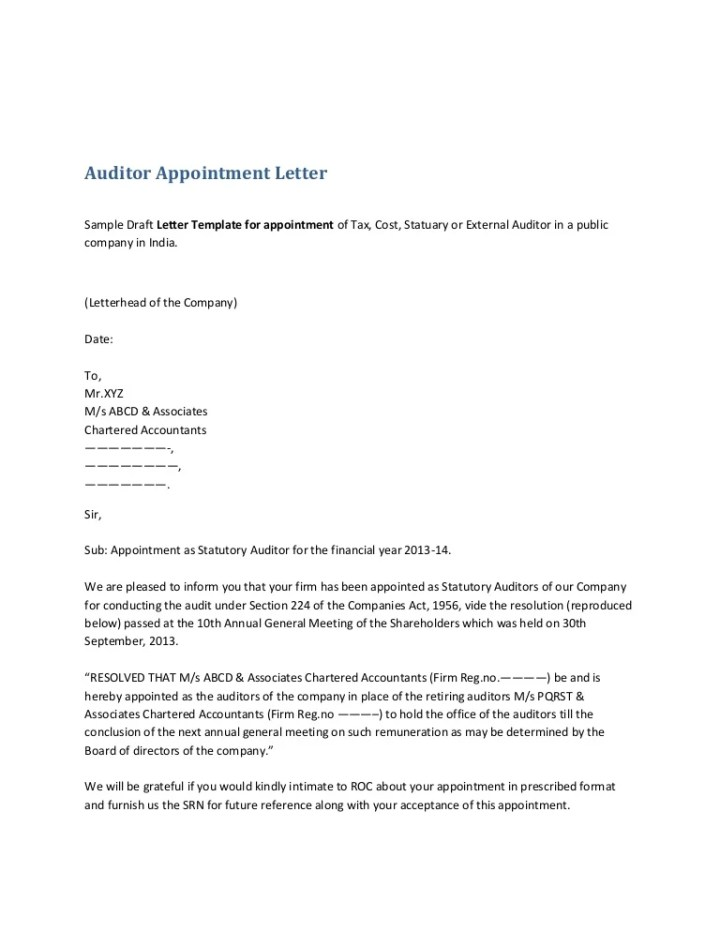 Job appointment letter format in word india docoments ojazlink auditorappointmentletter 131106051520 phpapp01 thumbnail 4 jpg cb 1383714953 appointment letter format appointment letter format altavistaventures Gallery
