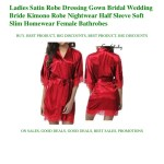 Big Discounts Ladies Satin Robe Dressing Gown Bridal Wedding Bride Ki