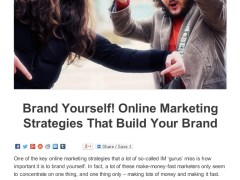 Brand Yourself Online Marketing Strategies That Build