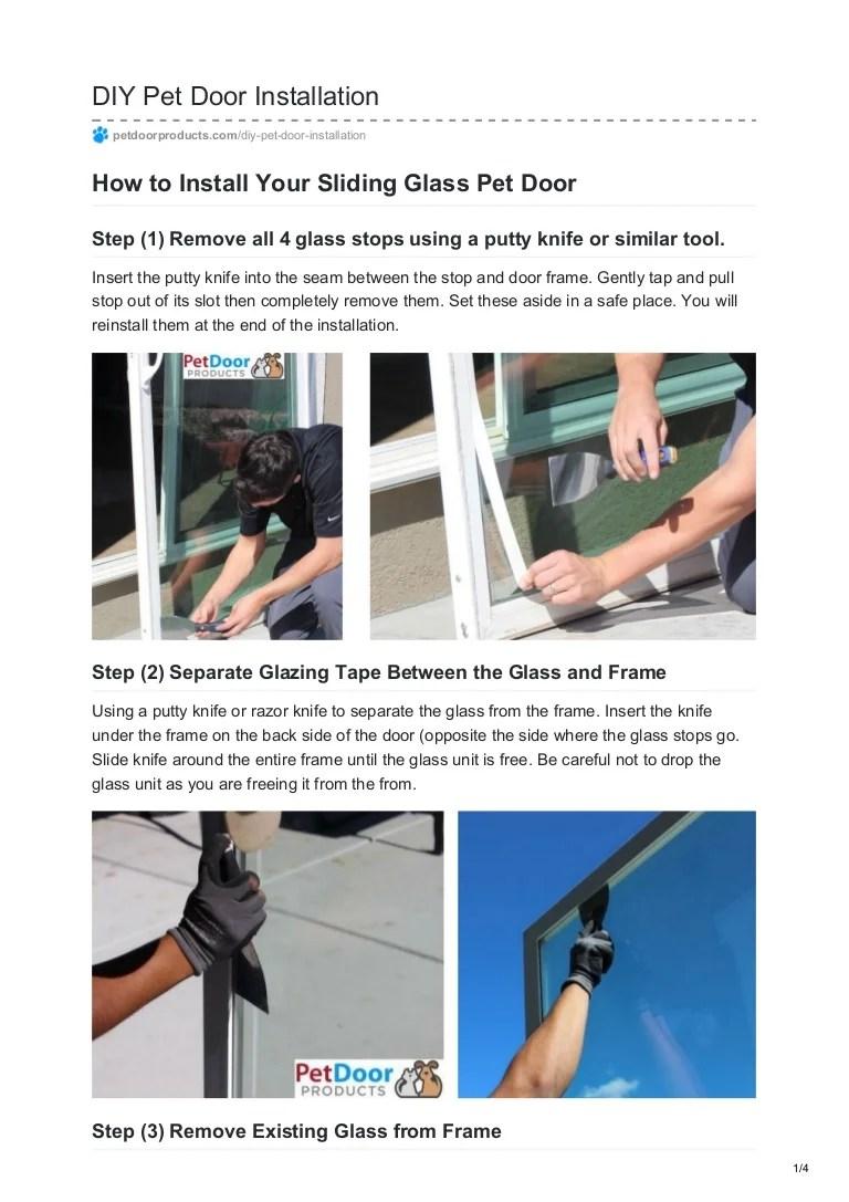 Diy Pet Door Installation