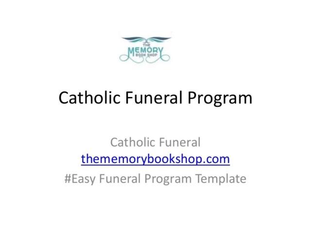 catholic funeral program - free download