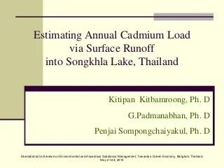 Estimating Annual Cadmium Load