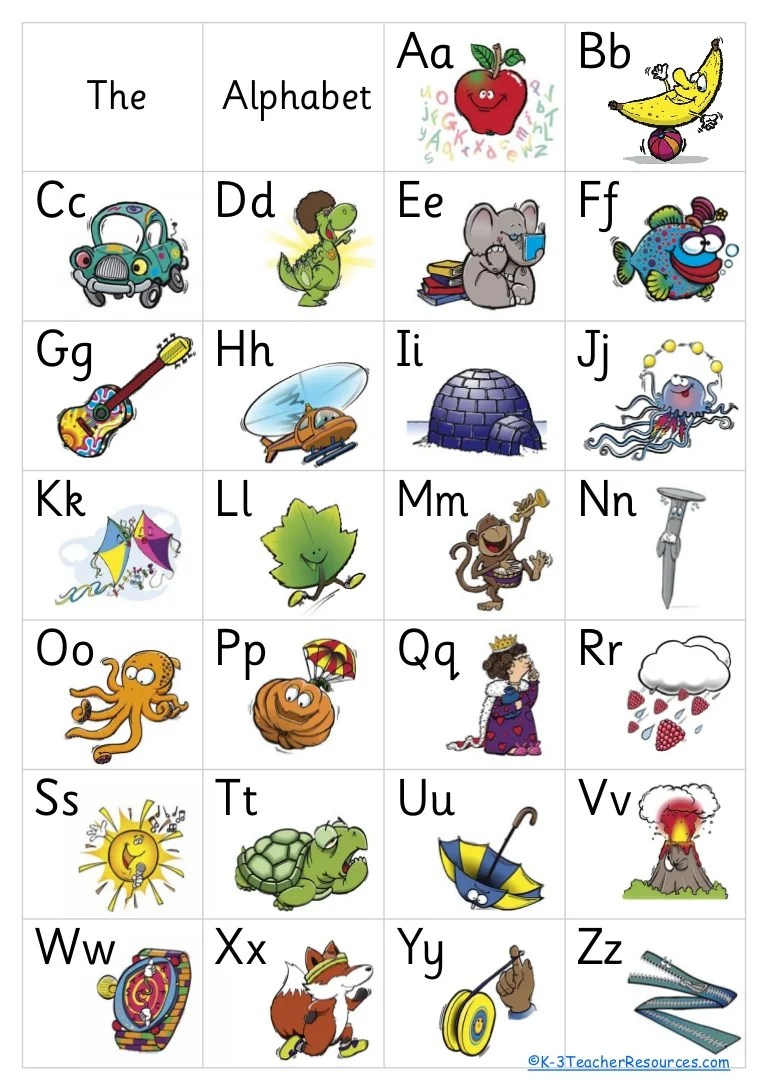free alphabet poster 8 pages