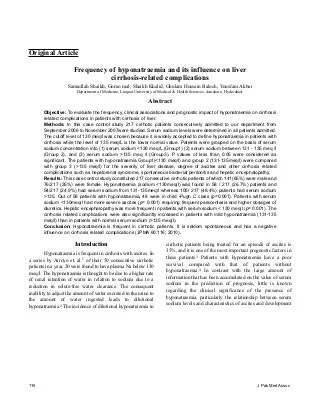 Articles On Liver Cirrhosis