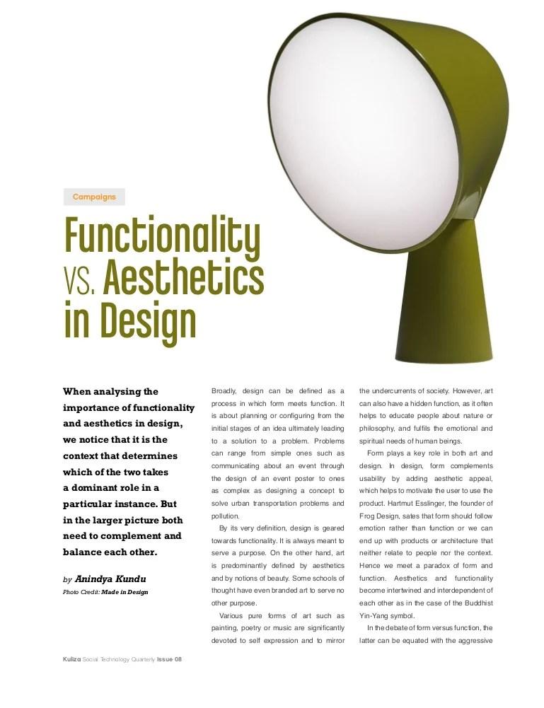 functionality vs aesthetics in design