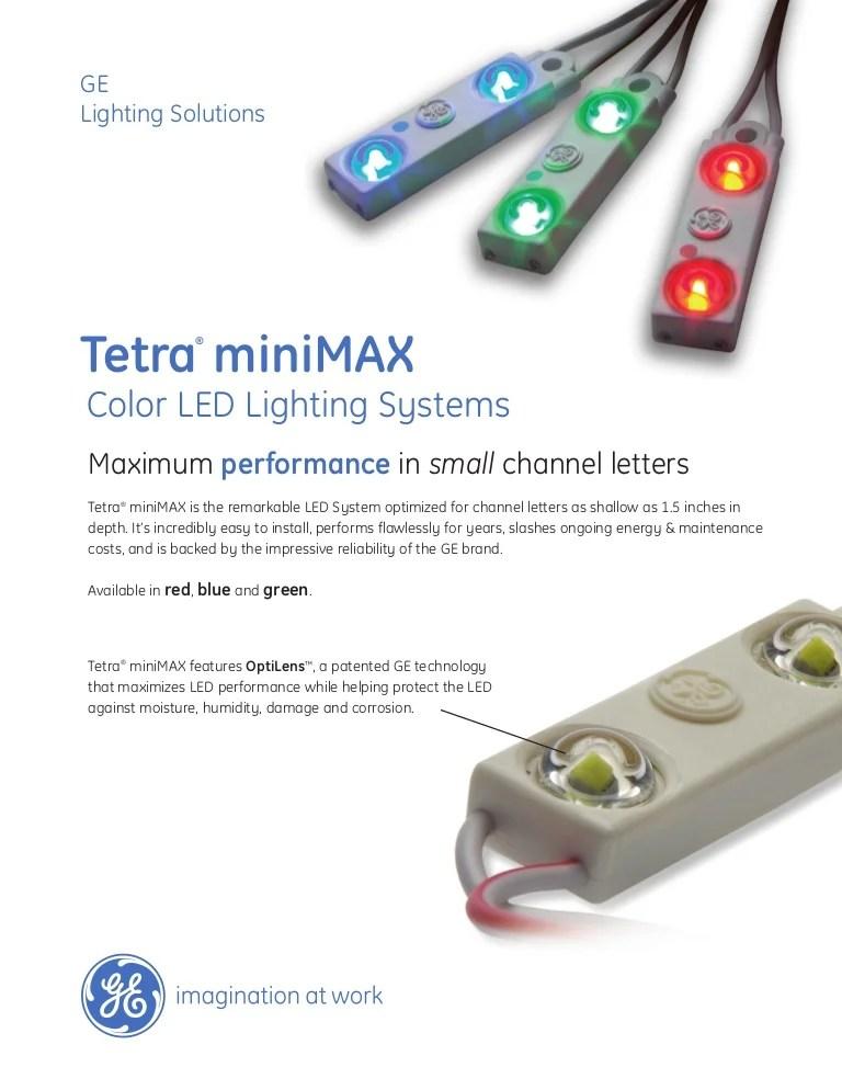 ge tetra mini max color data sheet