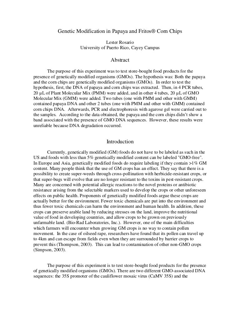 bio engineered processed food essay Free essays from bartleby | the numbers of processed and genetically modified  foods are on the rise processed foods are both fast to make and convenient for.