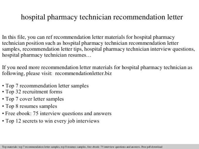 Pharmacy Technician Letter Of Recommendation Choice Image - letter ...
