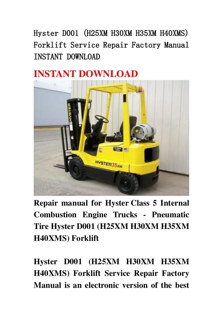 Hyster Forklift S50xm Wiring Diagram Origin Internal Combustion Engine Schematics Source H50xm Fork Lift Repair Manual