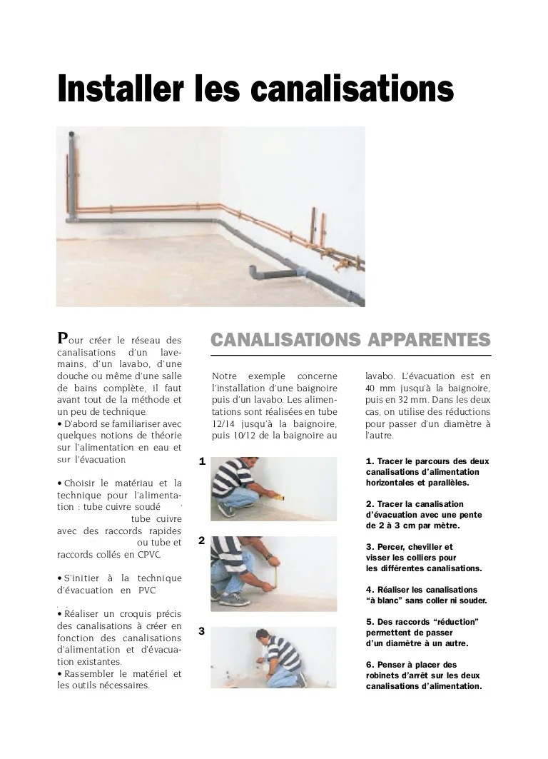 installer les canalisations