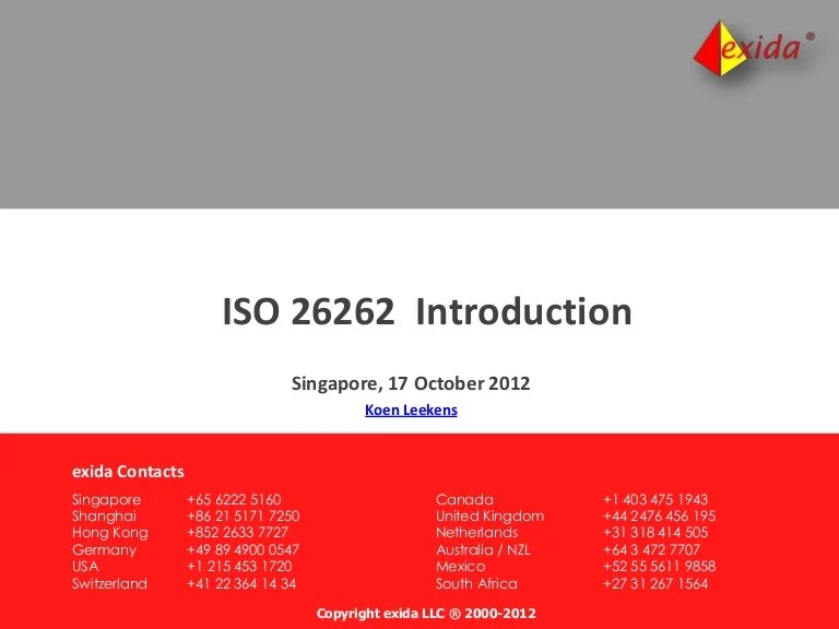 ISO 26262 Introduction